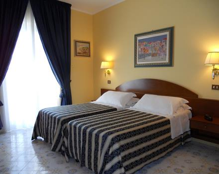 Classic rooms with balcony of our 4 star hotel in Sorrento are ideal for a relaxing stay
